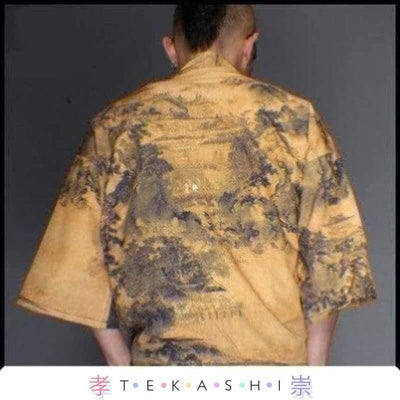 Tekashi Japanese Streetwear 9 / M Paak So Men's Robe by Tekashi Japanese Streetwear
