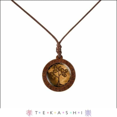 Tekashi Japanese Streetwear Amber Tree Furata Ladies Necklace by Tekashi Japanese Streetwear