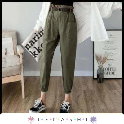 Tekashi Japanese Streetwear Army Green / L Wanama Ladies Pants by Tekashi Japanese Streetwear