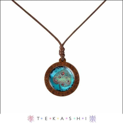 Tekashi Japanese Streetwear Blue Leaf Furata Ladies Necklace by Tekashi Japanese Streetwear