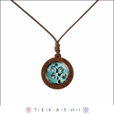 Tekashi Japanese Streetwear Blue Tree Furata Ladies Necklace by Tekashi Japanese Streetwear