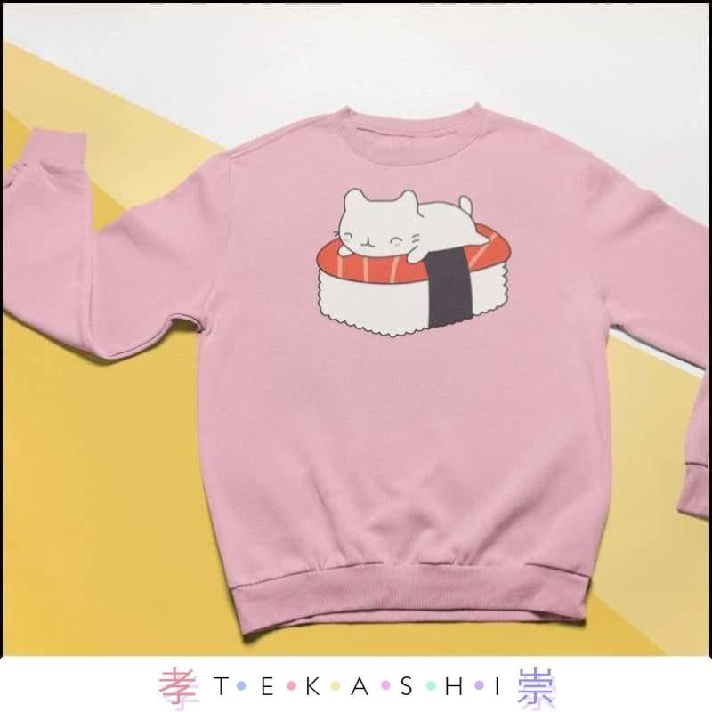 Tekashi Japanese Streetwear Light Blue / XXL Sushinyan Unisex Sweatshirt by Tekashi Japanese Streetwear