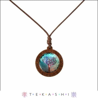 Tekashi Japanese Streetwear Purple Tree Furata Ladies Necklace by Tekashi Japanese Streetwear