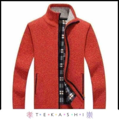 Tekashi Japanese Streetwear Red Full / XXS Kisha Men's Jacket by Tekashi Japanese Streetwear