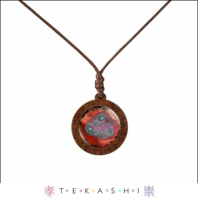 Tekashi Japanese Streetwear Red Leaf Furata Ladies Necklace by Tekashi Japanese Streetwear
