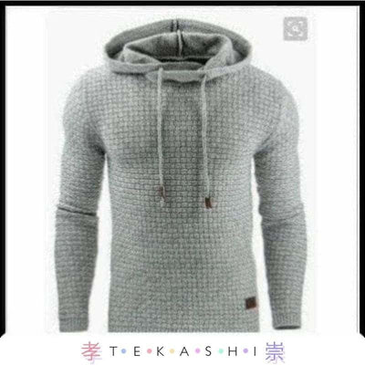 Tekashi Japanese Streetwear S / Light grey Zeni Men's Hoodie