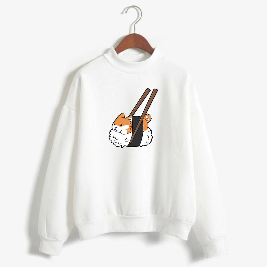 Sushiba Sushi Corgi with Chopsticks Unisex Sweatshirt