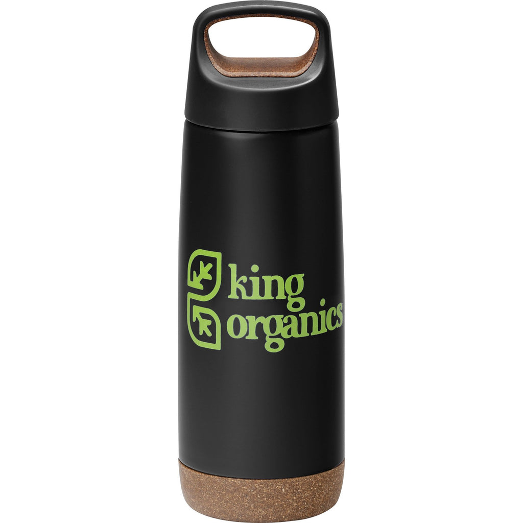 Skid Proof Insulated Bottle 20 Oz. 😀 in Black in a white background.