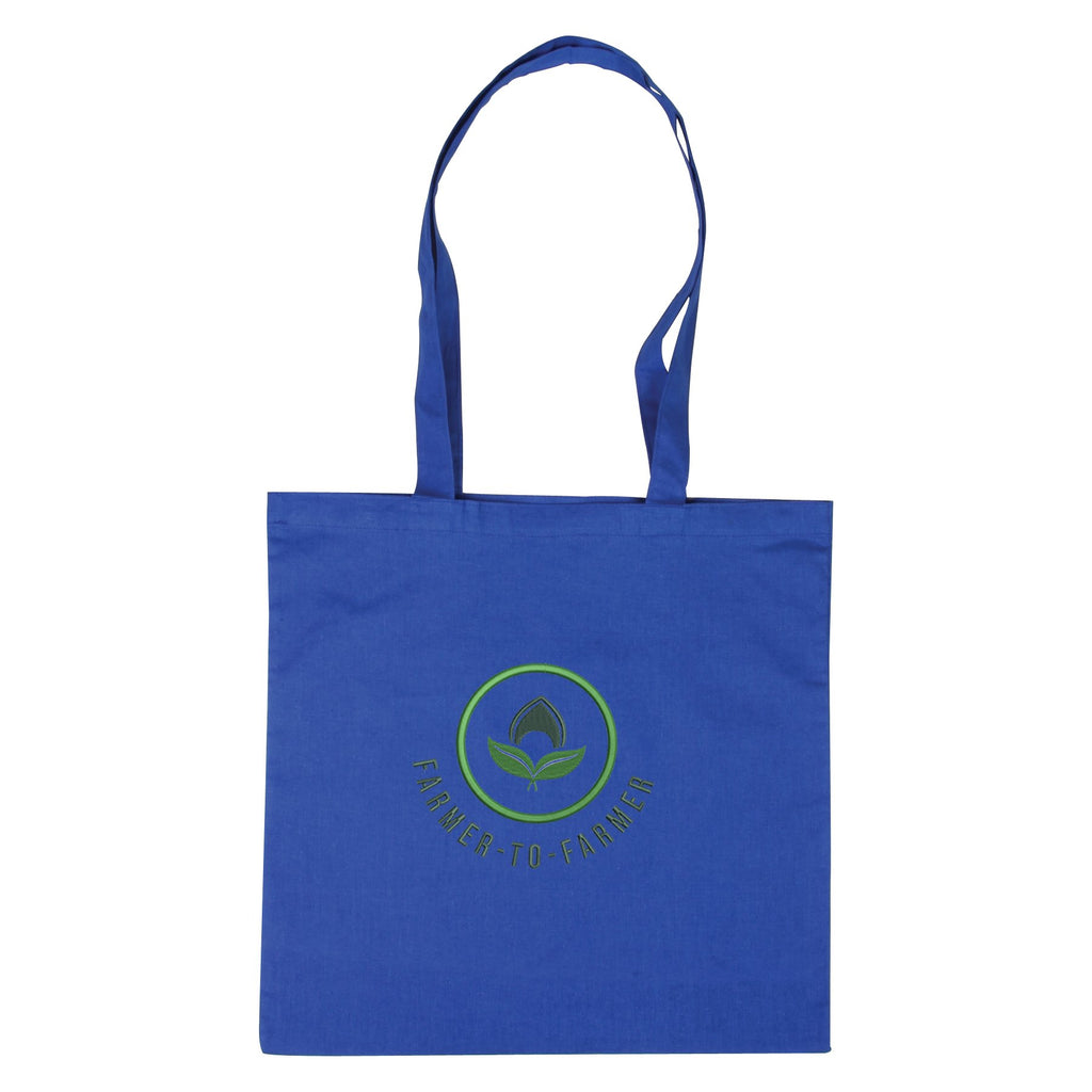 Blue Cotton Tote Bag 😀😀 Ethical Swag Pack