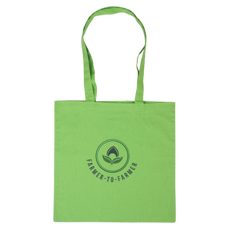 Green Cotton Tote Bag 😀😀 Ethical Swag Pack