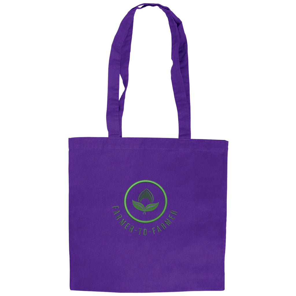 Purple Cotton Tote Bag 😀😀 Ethical Swag Pack