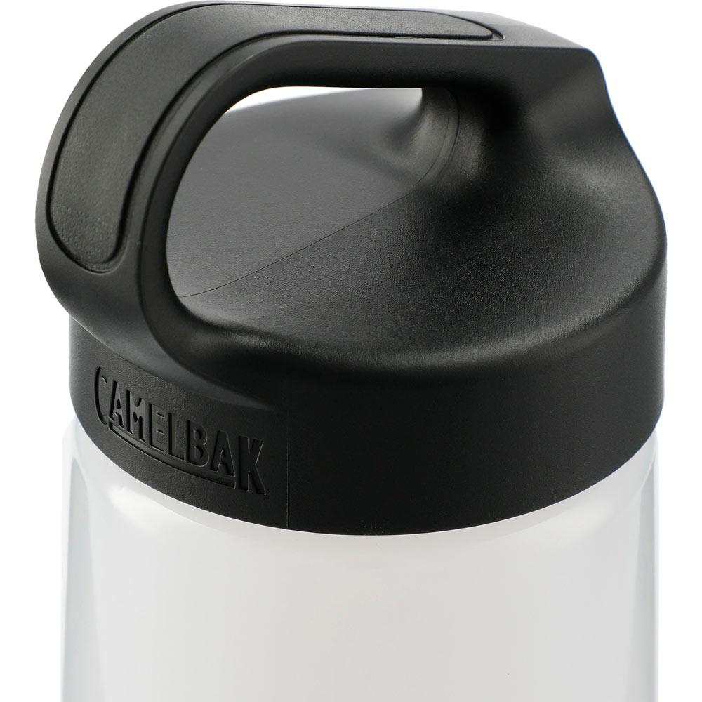 Black Lid close up of the Skid Proof Cork Insulated Bottle 20 Oz. 😀. Ethical Swag: your source for eco friendly promotional items.