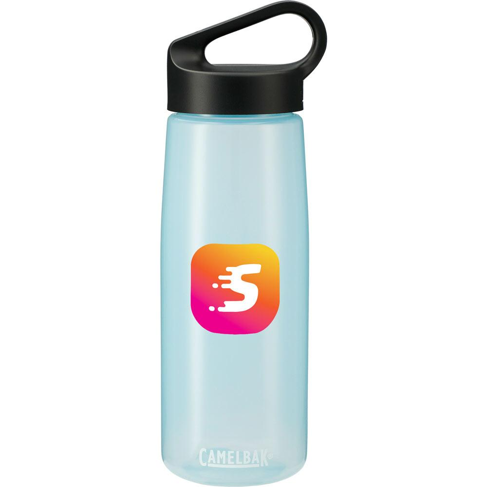 Skid Proof Cork Insulated Bottle 20 Oz. 😀 in Light Blue Translucent Color Variation. Ethical Swag: your source for eco friendly promotional items.
