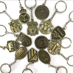 UNIQ Super Durable Football Club Metal Keychains - Copper Finish