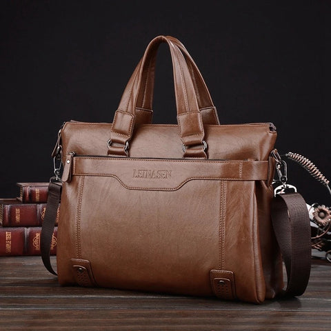 Mens Leather Business/Laptop Briefcase
