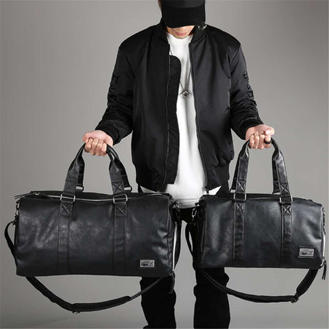 UNIQ Black Waterproof & Scratch proof Duffle Bags - PU Leather - 2 Sizes