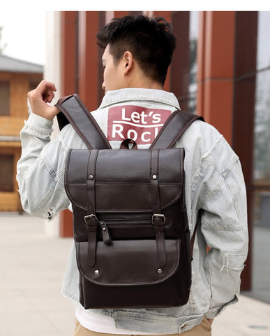 UNIQ Vintage Leather Backpack