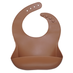 Silicone Baby Bib (brown)