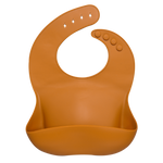 Load image into Gallery viewer, Silicon Baby Bib (light brown)