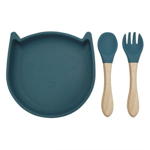 Kitty Plate (Blue)