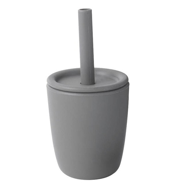 Silicone Cup with straw