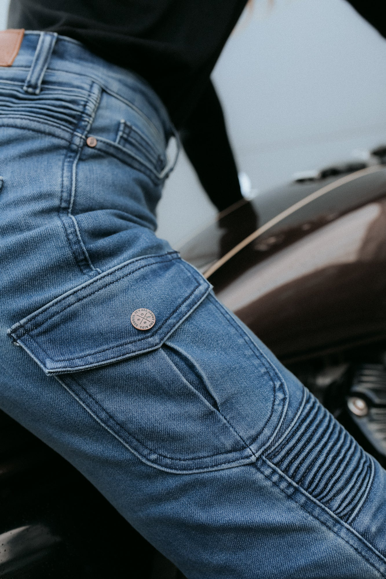 Ohio Lady Jeans - Cordura® & Coolmax® | Washed Blue