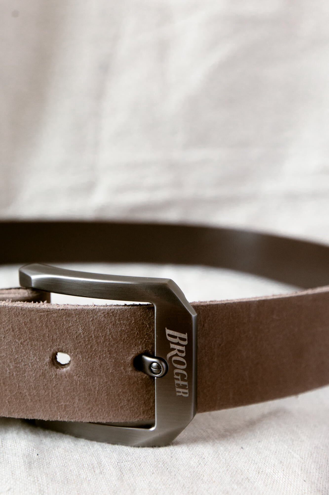 Alaska Vintage Brown Leather Belt
