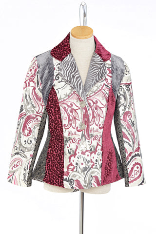 Pink and Grey High Low Jacket