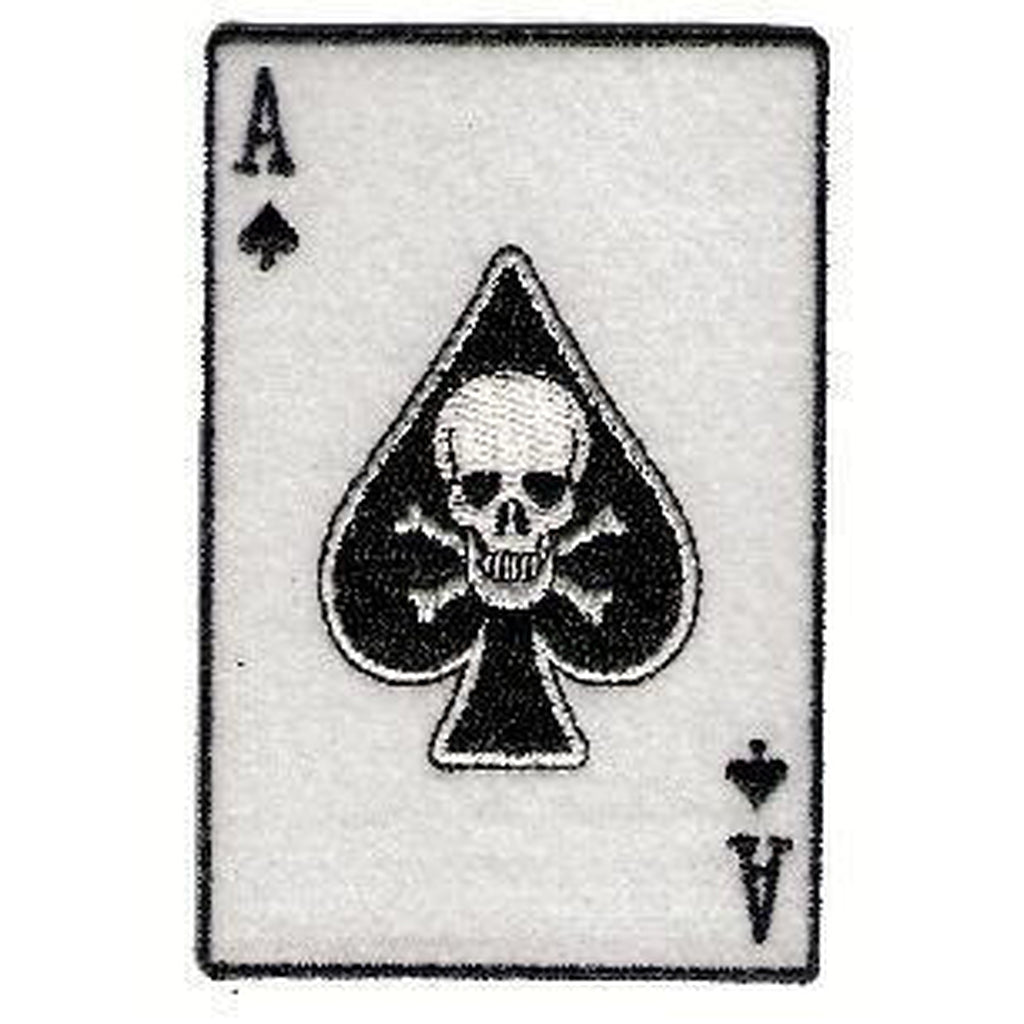 Ace of spades with skull hihamerkki - Hoopee.fi