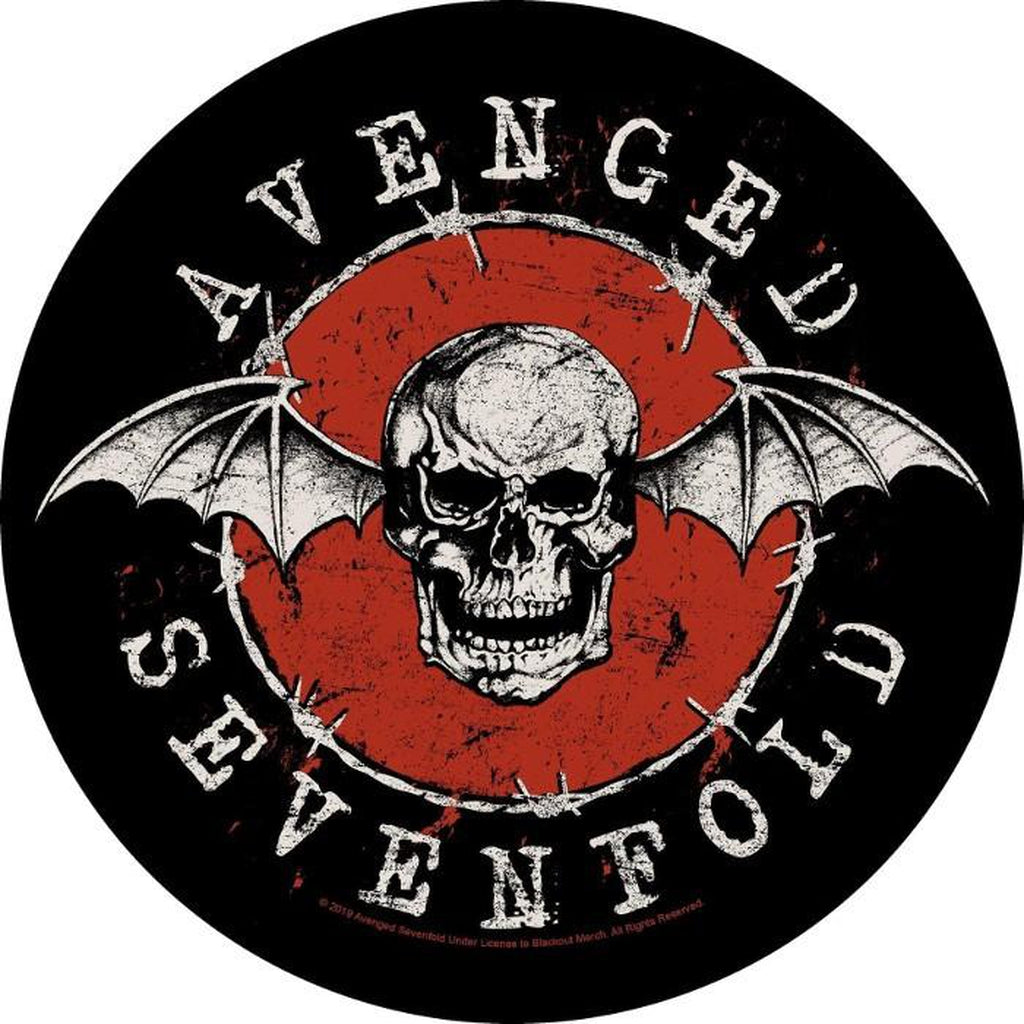 Avenged Sevenfold - Distressed skull selkämerkki - Hoopee.fi