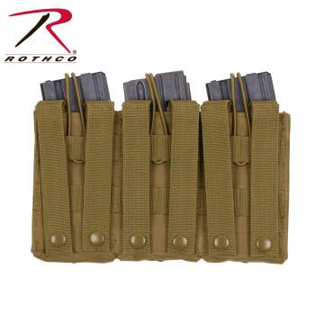 Image of Rothco MOLLE Open Top Triple Mag Pouch
