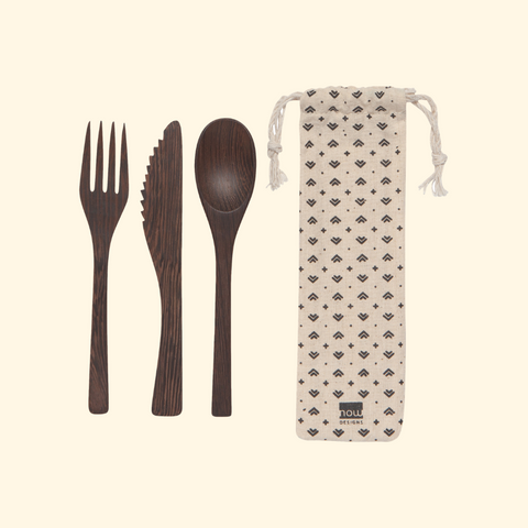 Reuseable cutlery set bamboo sustainable zero waste wefill mobile market and refillery