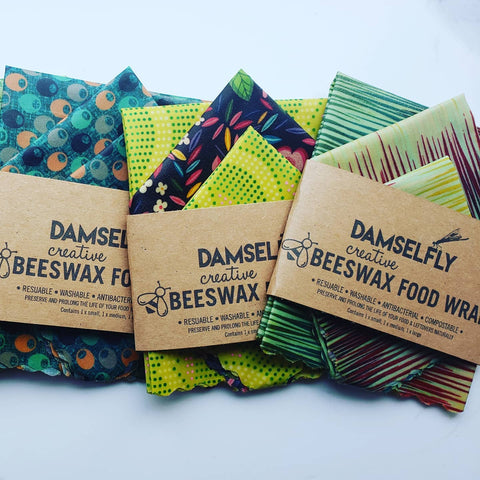beeswax wraps organic compostable zero waste wefill mobile market and refillery