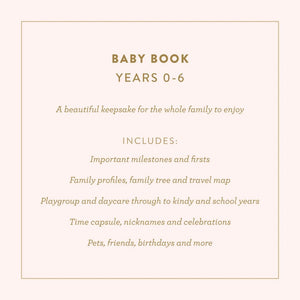 Baby Book (Buttermilk) Journal Fox and Fallow