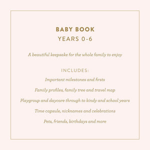 Baby Book (Grey) Journal Fox and Fallow