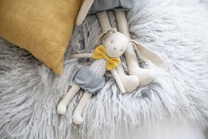 Baby Boy Bunny Grey Butterscotch (26cm) Soft Toy Alimrose