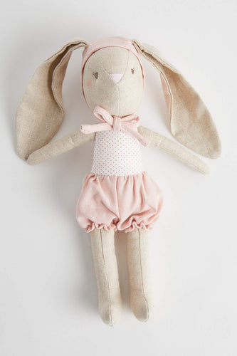 Baby Girl Bunny In Bonnet (26cm) Soft Toy Alimrose