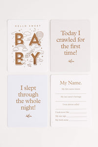 Baby Milestone Cards (Powder Blue) Milestone Cards Fox and Fallow