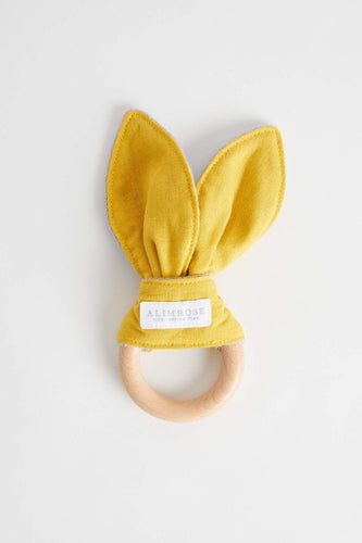 Bailey Bunny Teether (Butterscotch Linen) Teether Alimrose