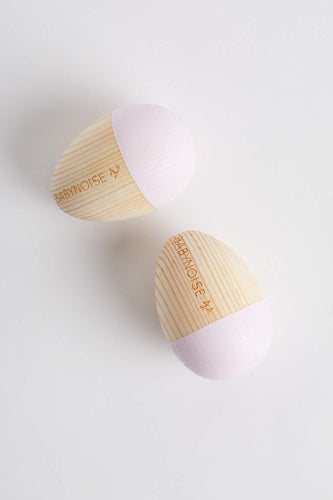 Duo Egg Shakers (Baby Pink) Musical Instrument Babynoise