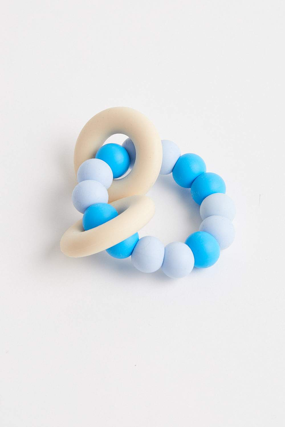 GUMMI Silicone Teether (Blue) Teether One Chew Three