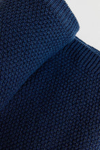 Load image into Gallery viewer, Moss Stitch Blanket (100cm x 100cm - Navy) Blanket Oz Knit