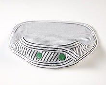 Load image into Gallery viewer, Mossy Mossy Organic Bib (Black & White Stripe) Bib Pappe