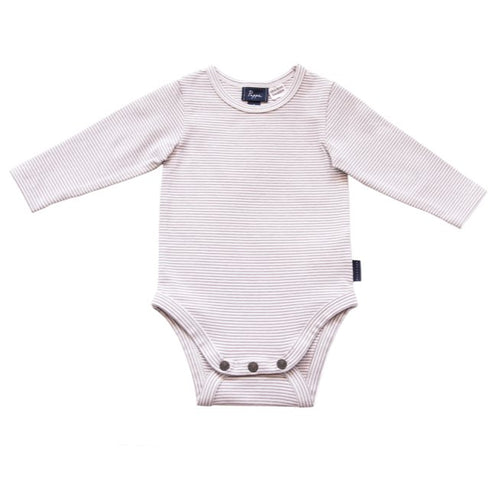Nimmy Luxe Organic Onesie (Long Sleeve - Elderberry Stripe - 000) Onesie Pappe