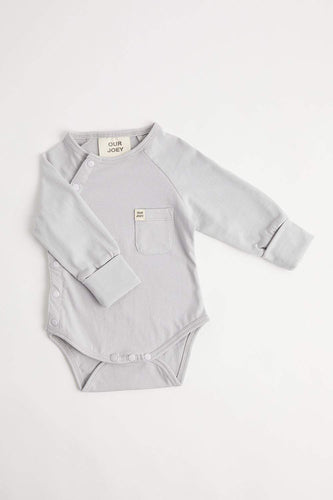 Organic Long Sleeve Bodysuit (Light Grey) Bodysuit Our Joey