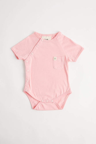 Organic Short Sleeve Bodysuit (Dusty Pink) Bodysuit Our Joey