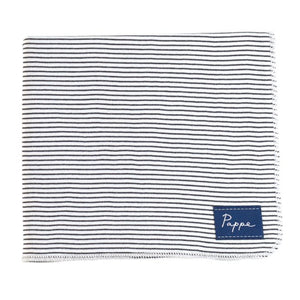Petey Luxe Organic Wrap (Black & White Stripe) Swaddle Pappe