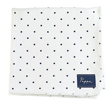Load image into Gallery viewer, Petey Luxe Organic Wrap (Navy Spots) Swaddle Pappe
