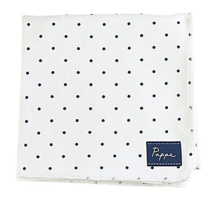 Petey Luxe Organic Wrap (Navy Spots) Swaddle Pappe