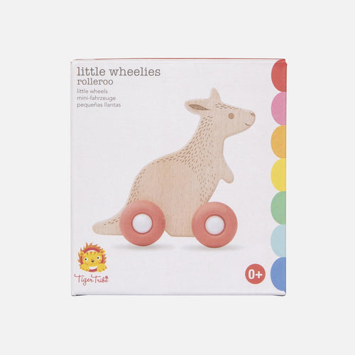 Rolleroo Little Wheelies Wooden Toy Tiger Tribe